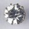 Rhinestone Button Round Silver/Crystal Single Stone 9mm